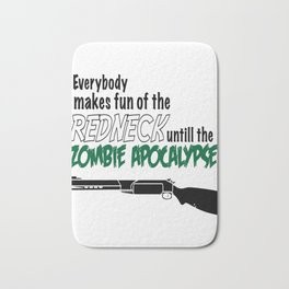 Redneck Zombie All Out Battle T Shirt Bath Mat
