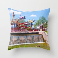 dumbo Throw Pillows featuring Dumbo Ride by ThatDisneyLover