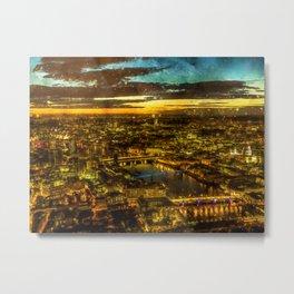 london-panorama-city-night-view Metal Print