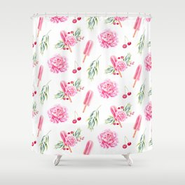Tropical Chill Rose Shower Curtain