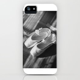 Ballet dance shoes. Black and White version. iPhone Case