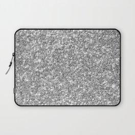 Silver Gray Glitter Laptop Sleeve