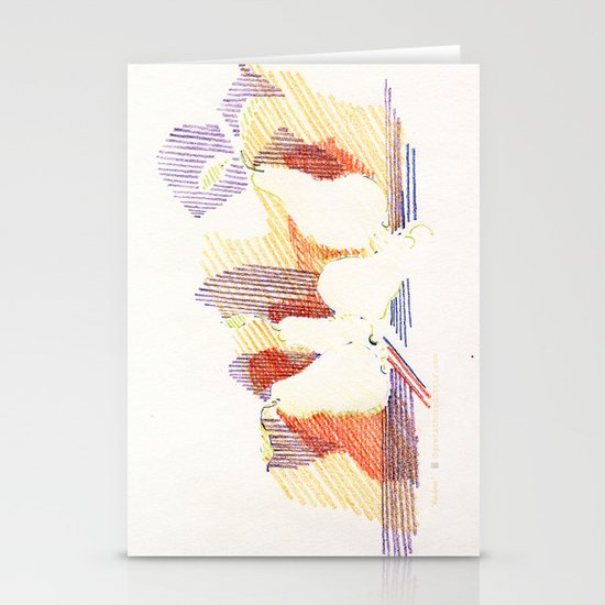 CRAYON LOVE - Shadows  Stationery Cards