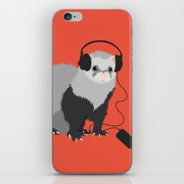 Music Loving Ferret iPhone Skin