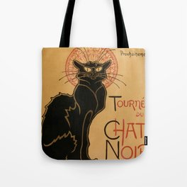 Le Chat Noir The Black Cat Poster by Théophile Steinlen Tote Bag