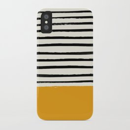Fall Pumpkin x Stripes iPhone Case