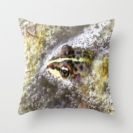 I'm Forever Blowing Bubbles Cute Frog Throw Pillow