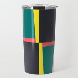 Modern Geometric 65 Green Travel Mug