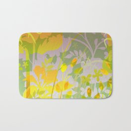 Woodland Awakening - yellows Bath Mat