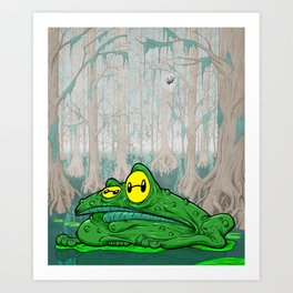 Frog in a bog Art Print