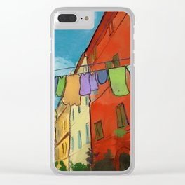 Laundry in Trastevere Clear iPhone Case