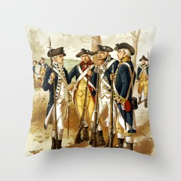Infantry Of The Revolutionary War Throw Pillow
