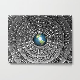 No World Government Metal Print