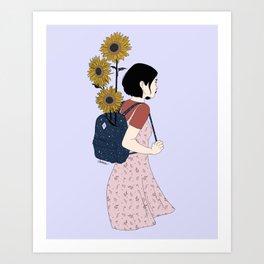 The Sunny Road - Colour version Art Print