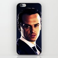 moriarty iPhone & iPod Skins featuring Jim Moriarty by Kristine Harbek