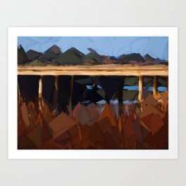 Bridge over water Art Print