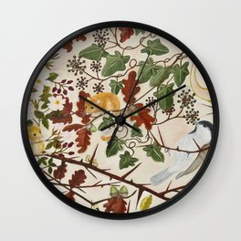 Marsh Tit and Field Mice Wall Clock