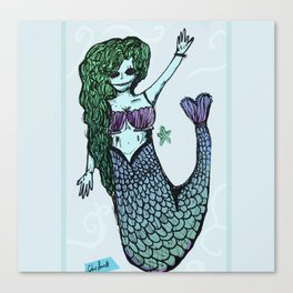 Mermaid beauty standards Canvas Print