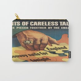 Vintage poster - Careless Talk Carry-All Pouch