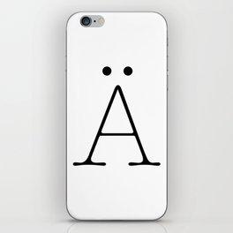 Letter Ä Typewriting iPhone Skin