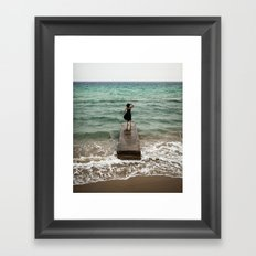 The Woman And The Sea Framed Art Print