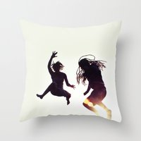 rasta Throw Pillows featuring Rasta Jump by swapis