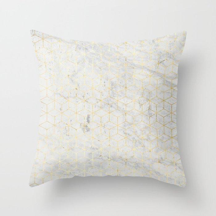 e945ac92c4a7b7 gOld 3D Throw Pillow by simonasacchi | Society6