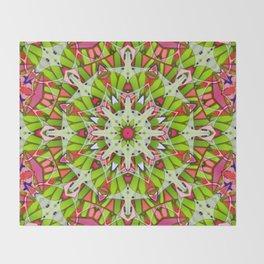 Kaleidoscopic Geometric Flower G542 Throw Blanket
