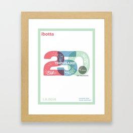 Ibotta 25ok likes Poster Framed Art Print