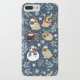 Christmas Pugs iPhone Case
