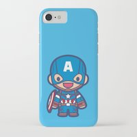 captain iPhone & iPod Cases featuring Captain by Papyroo