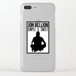 JON BELLION Clear iPhone Case