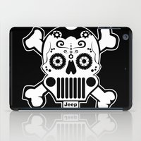 jeep iPad Cases featuring Jeep Logo Sugar Skull by Black Paw Canvas