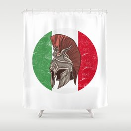 Italy Italian Spartan  TShirt Warrior Shirt Flag Gift Idea Shower Curtain