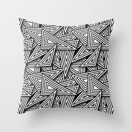 Triangle Funk Throw Pillow