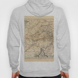 Map Of South Africa 1875 Hoody