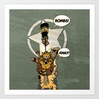 bombs away Art Prints featuring Bombs Away  by Greathouse