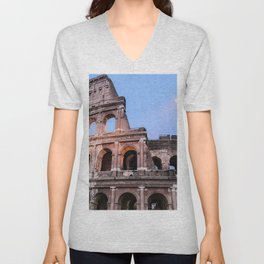 Colosseum at Night Unisex V-Neck