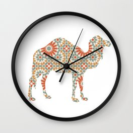 CAMEL SILHOUETTE WITH PATTERN Wall Clock