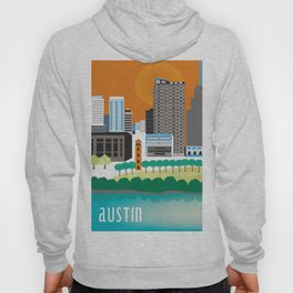 Austin, Texas - Skyline Illustration by Loose Petals Hoody