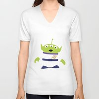 toy story V-neck T-shirts featuring Toy Story Alien by TracingHorses