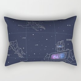Soundwave, Ravage, Laserbeak Star Chart Rectangular Pillow