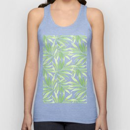 Tropical Branches Pattern 10 Unisex Tank Top