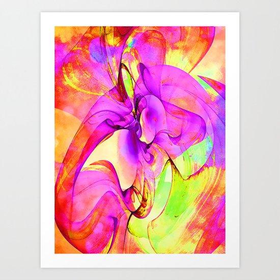Dancing Veil 2 Art Print