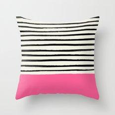 Watermelon & Stripes Throw Pillow
