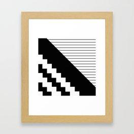 Phases Of Black And White Framed Art Print