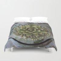 succulent Duvet Covers featuring Succulent by Michelle Wenz