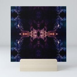 Abstract smoke fractal - The all seeing eye Mini Art Print