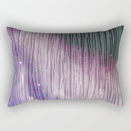446 2 Lavender & Gray Watercolor Stain Rectangular Pillow