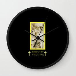 Clément de Fauquembergue, Portrait of Jeanne d'arc. Wall Clock